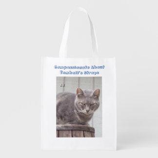 Gray Tabby Cat Market Tote