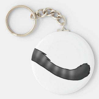 Gray Tabby Cat Tail Keychain