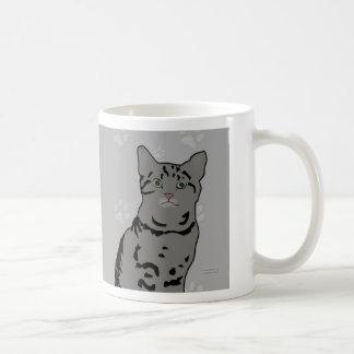 Gray Tabby Kitty Mug