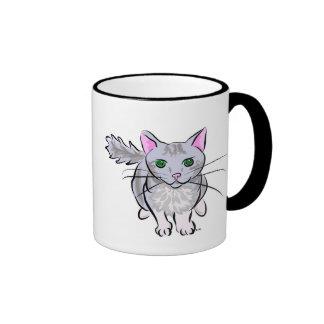 Gray Tabby Ringer Mug