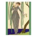 Gray Taffeta Gown George Barbier Postcards