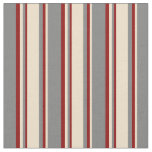 [ Thumbnail: Gray, Tan, and Dark Red Colored Pattern Fabric ]