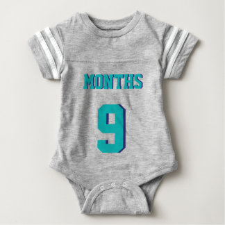 Gray & Teal Baby | Sports Jersey Design T Shirt