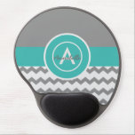 "Gray Teal Chevron Gel Mouse Pad<br><div class=""desc"">Gray teal chevron gel mousepad</div>"