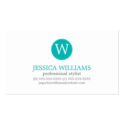 Gray Teal Green Zigzag Ikat Pattern Business Card Template