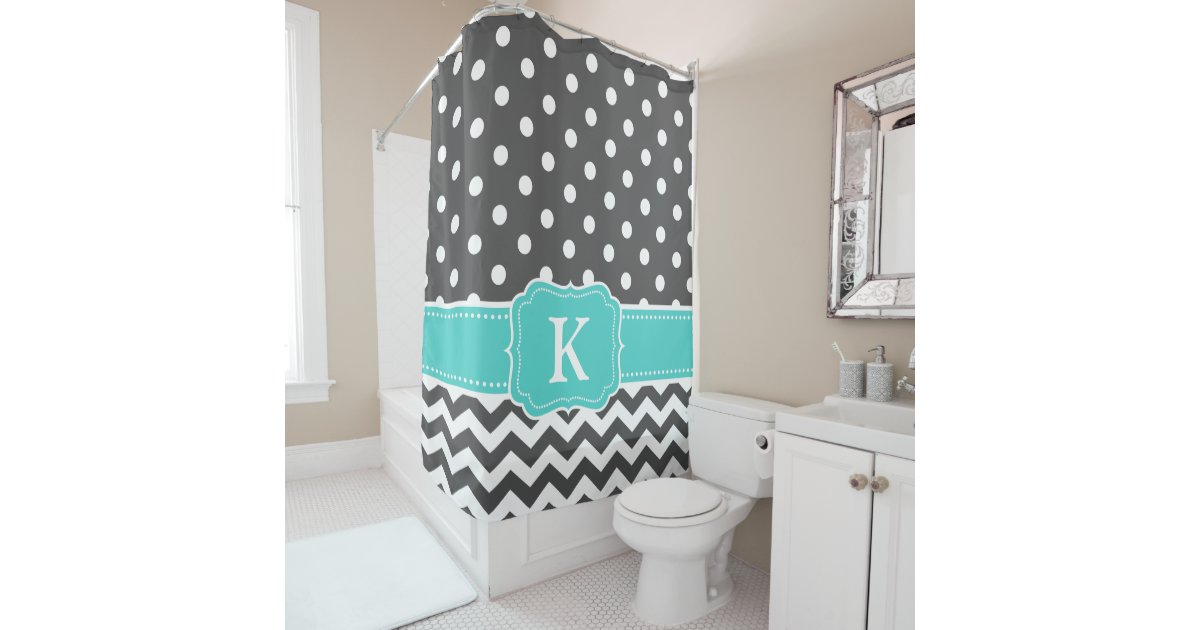 Gray And Teal Shower Curtain Curtain Gallery