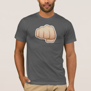Gray tee-shirt   emoji fist iphone T-Shirt