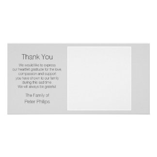 Gray Template Sympathy Thank You with white border