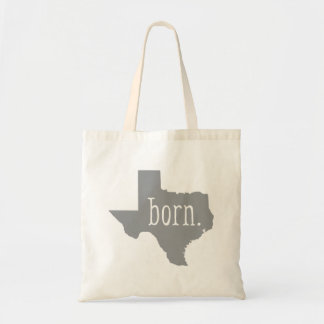 Gray Texas State Born Tote Bag