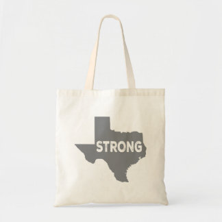 Gray Texas State Strong Tote Bag
