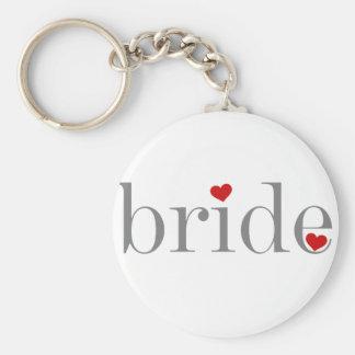 Gray Text Bride Keychain