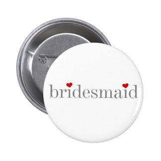 Gray Text Bridesmaid Button
