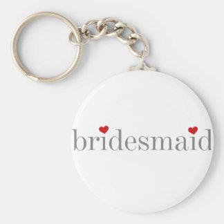Gray Text Bridesmaid Keychain