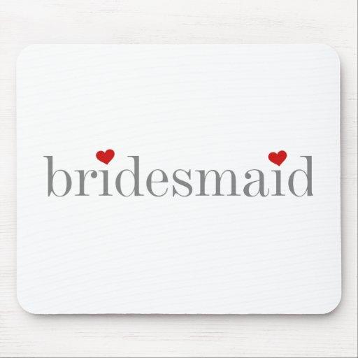 Gray Text Bridesmaid Mouse Pad