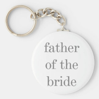 Gray Text Father of Bride Keychain