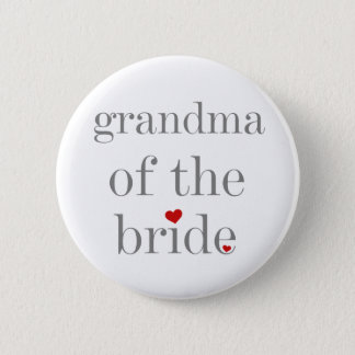 Gray Text Grandma of Bride Button