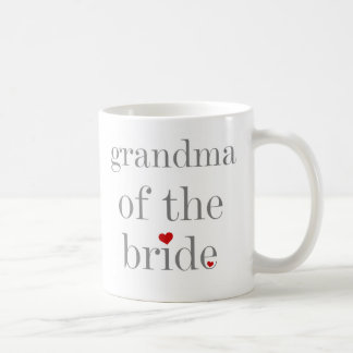 Gray Text Grandma of Bride Coffee Mug