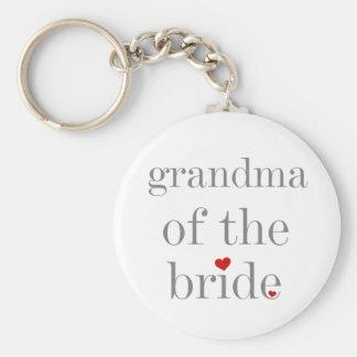 Gray Text Grandma of Bride Keychain