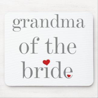 Gray Text Grandma of Bride Mouse Mats