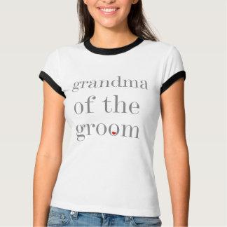 Gray Text Grandma of Groom T-Shirt