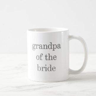 Gray Text Grandpa of Bride Coffee Mug