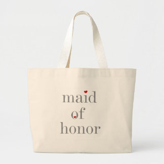 Gray Text Maid of Honor Bags