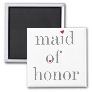 Gray Text Maid of Honor Magnet