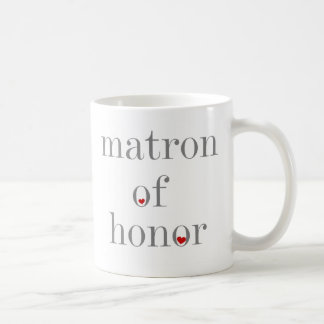 Gray Text Matron of Honor Coffee Mug