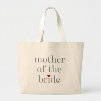 Gray Text Mother of Bride Jumbo Tote Bag