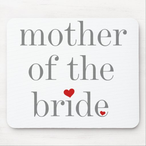 Gray Text Mother of Bride Mouse Mats