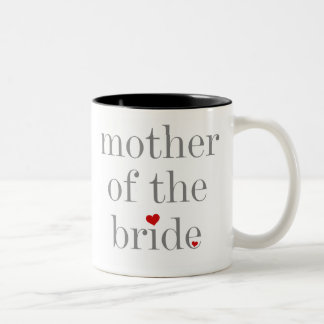 Gray Text Mother of Bride Two-Tone Coffee Mug