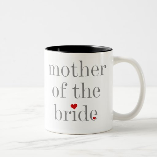 Gray Text Mother of Bride Coffee Mugs