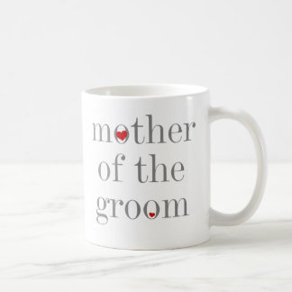 Gray Text  Mother of Groom Classic White Coffee Mug