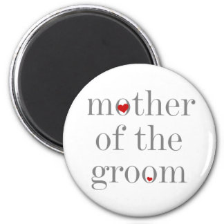 Gray Text  Mother of Groom Magnet