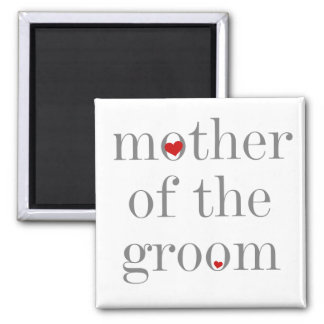 Gray Text  Mother of Groom Refrigerator Magnet