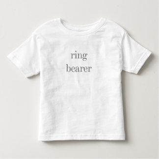 Gray Text Ring Bearer T Shirt