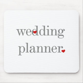 Gray Text Wedding Planner Mouse Pads