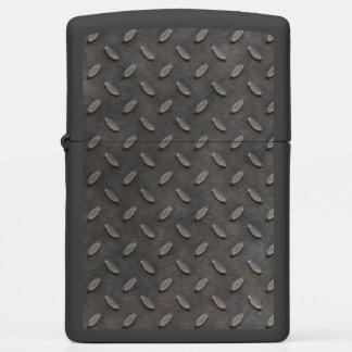 Gray Textured Industrial Sheet Metal Zippo Lighter