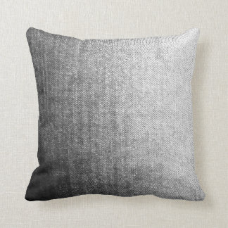 Gray Textured Ombre Pillow