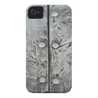 Gray Textured Steel Pattern iPhone 4 Case