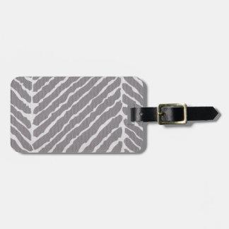 Gray Tiger Stripes Canvas Look Bag Tag