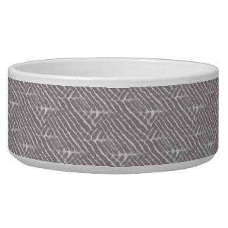 Gray Tiger Stripes Canvas Look Bowl