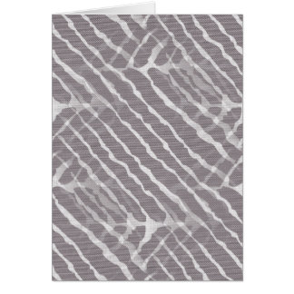 Gray Tiger Stripes Canvas Look Greeting Card