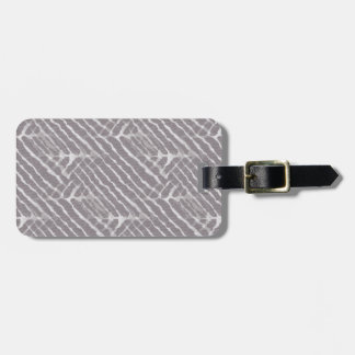 Gray Tiger Stripes Canvas Look Luggage Tag