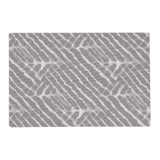 Gray Tiger Stripes Canvas Look Laminated Placemat