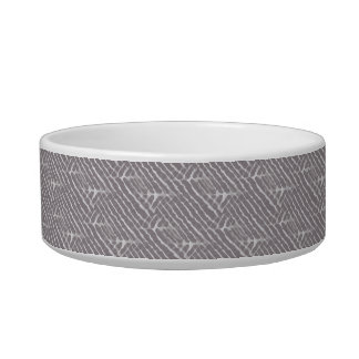 Gray Tiger Stripes Canvas Look Pet Water Bowls