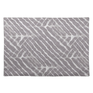Gray Tiger Stripes Canvas Look Cloth Placemat