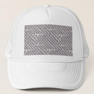 Gray Tiger Stripes Canvas Look Trucker Hat