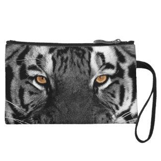 Gray Tiger Wristlet Bag