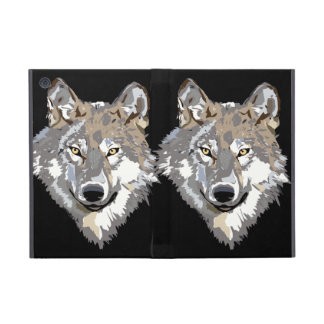 Gray Timber Wolf Cases For iPad Mini